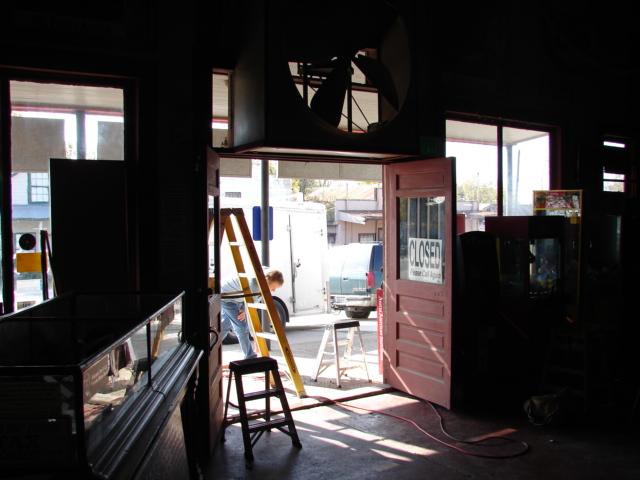 Restaurant front door 014
