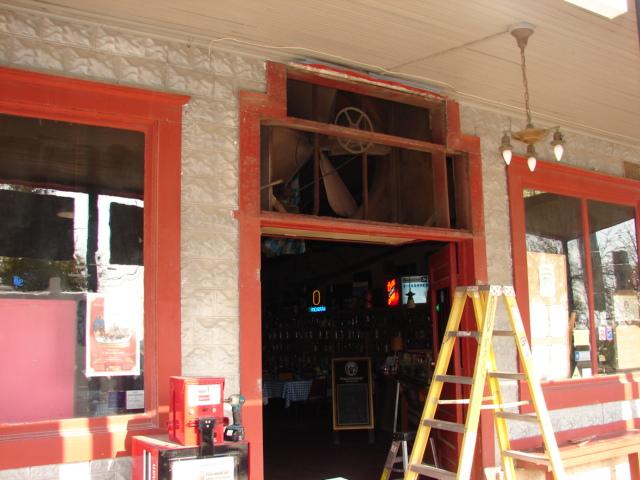 Restaurant front door 015