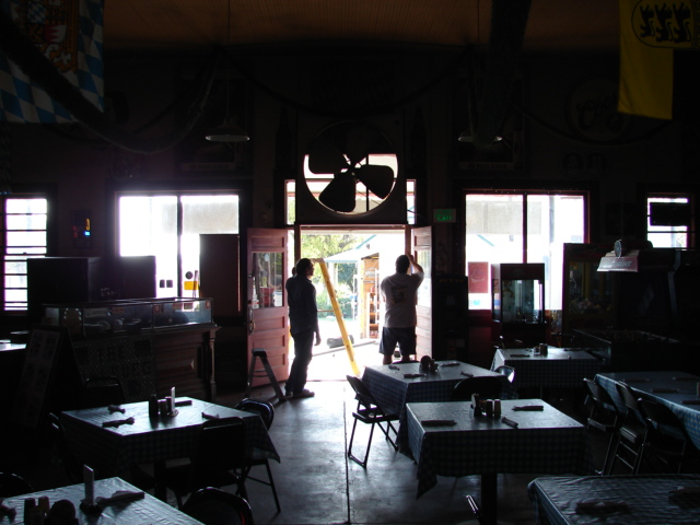 Restaurant front door 016