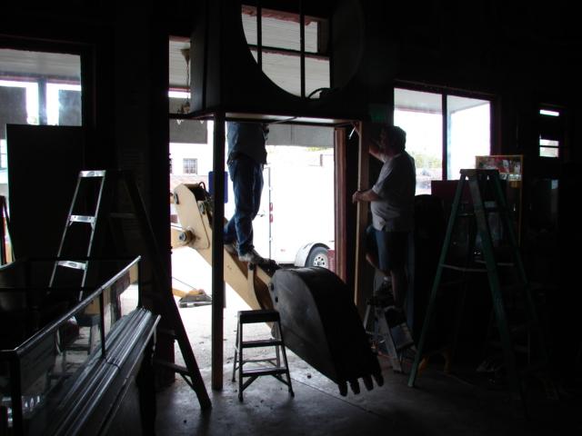 Restaurant front door 021