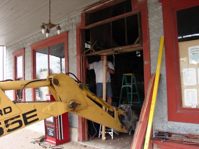 Restaurant front door 025
