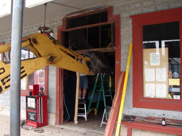 Restaurant front door 028