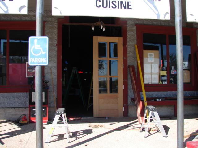 Restaurant front door 032